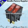 Double red button 6 pin rocker switch 20a 125vac