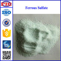 Granular Ferrous sulfate used medically to treat iron deficiency