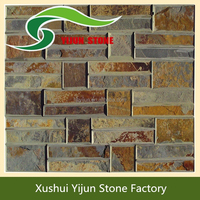High Quality Yellow Stacked Indoor Decorative Flex Stone