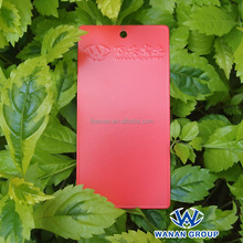 WA1606114SN red color satin surface non organotin powder paint eco-friendly coat
