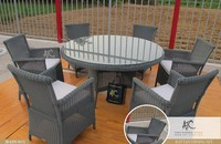 Poly Rattan Outdoor Furniture Round Dining Table and chairs