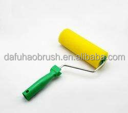 mini yellow foam roller cover interior wall glitter paint slip-on green handle