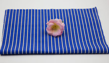 Wholesale 60 Cotton 40 Polyester Yarn Dyed Blue White Stripe Shirting Fabric