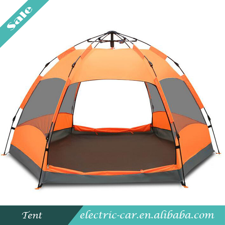 Top Sale Large Space Double Layers Automatic Camping Tent Six Corners Tent