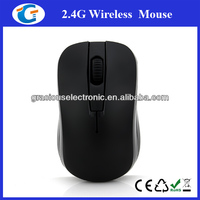 Black rubber surface 2.4Ghz laptop mini optical mouse wireless for travel