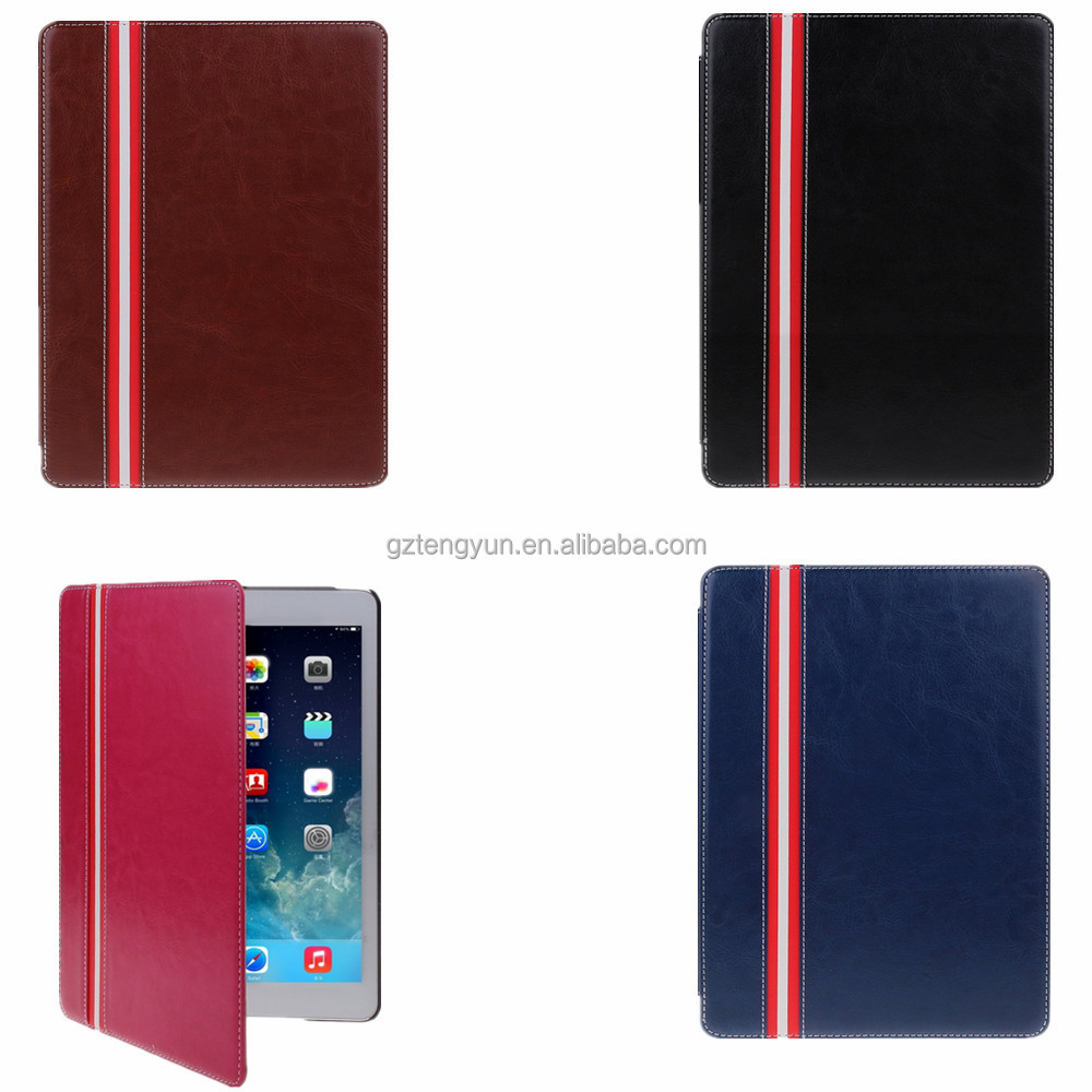 OEM crystal pattern ultra slim wholesale for apple ipad 6 leather case