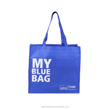 YW Factory Custom Foldable Shopping Laminated Blue Non Woven Bag
