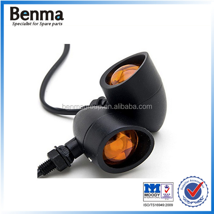 Black good protective aluminum alloy hull jet-propelled classical motorcycle/scooter/dirt bike turn signal light