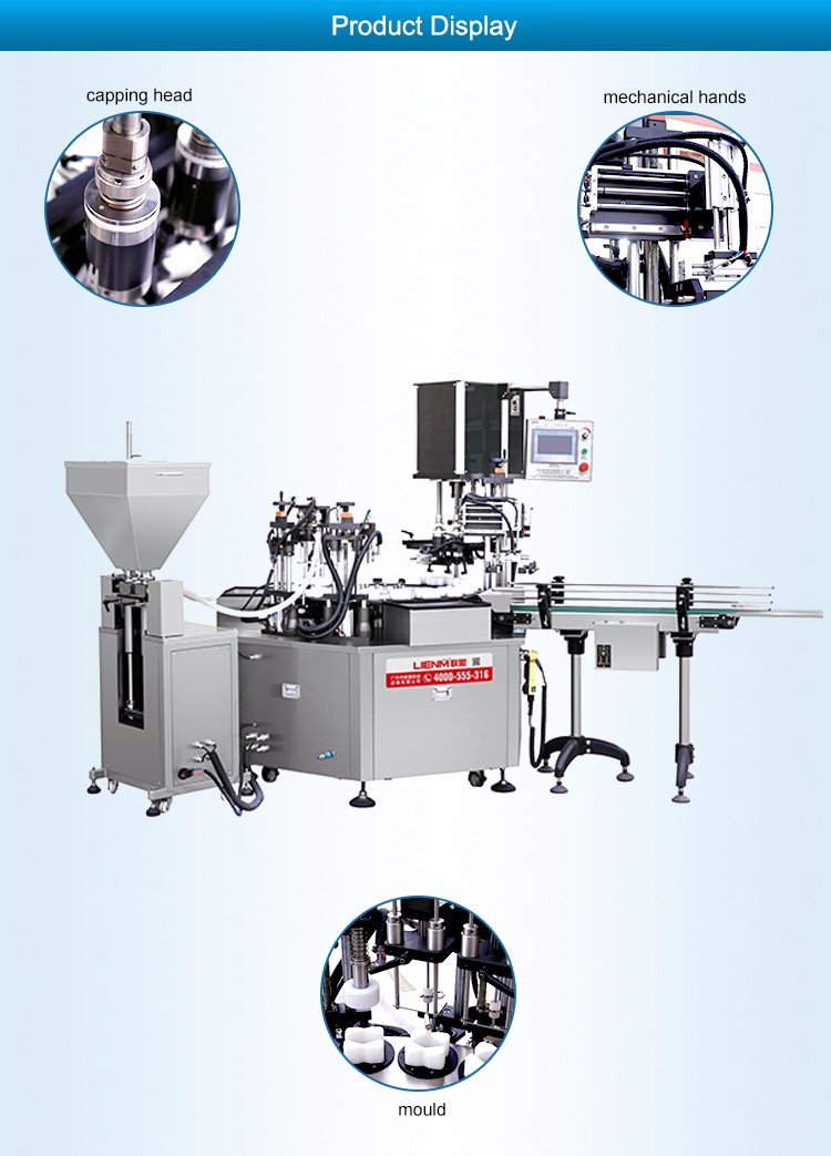 LM-SRG-G-B Rotary Liquid Detergent Filling Machine with Liquid Cream Lotion Filler and Capper