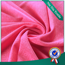 Dress fabric supplier Design Polyester knitting fabric , knit emboss fabric