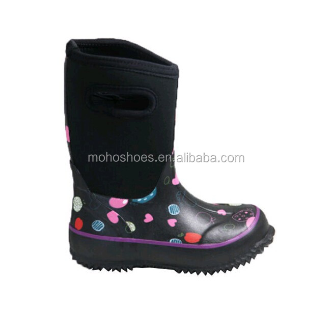 Lovely Children Classic Candy Waterproof Neoprene Rain Boots Gum Rain Boots
