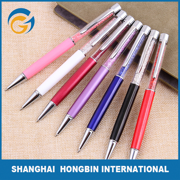 Colorful Design with Crystal Metal Pen Set Gift