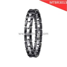 Hot sale bracelets, made of tungsten carbide and High-tech ceramic,shiny polished, scratch proof and allergy free