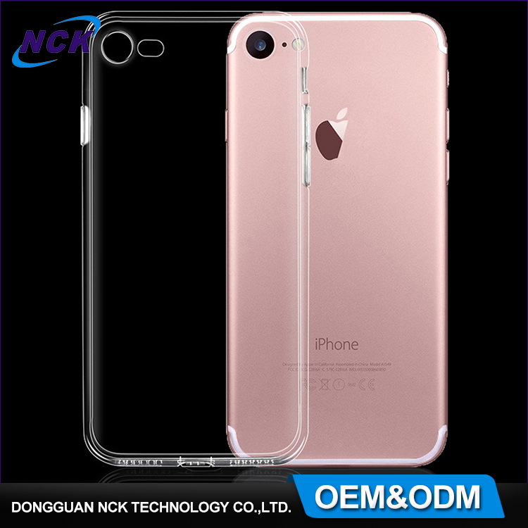 Free sample ultra thin waterproof transparent tpu cell phone full cover, custom print for iphone 6 7 case tpu