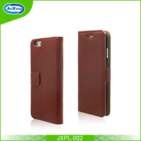 Top selling shock proof flip leather case card slots cover for iphone 6