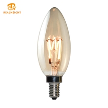 Office Top Rated High Quality Vintage 4w Dimmable Led Filament Candle Bulb