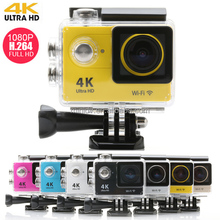 30 meters waterproof extreme sport camera for diving with wifi, 4k ultra hd, 1080p@60fps, 2.0inch screen and 170 degree angle