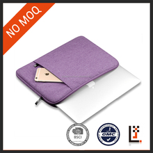 spot goods horizontal purple nylon laptop sleeve case for 11,13,15 inch for lady