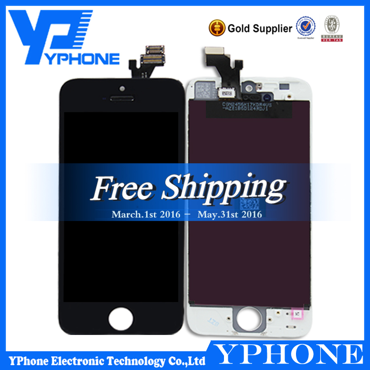 Factory oem lcd for iphone5 with digitizer assembly,for iphone 5 lcd digitizer completed,lcd display replacement for iphone 5