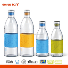 Everich 2016 New Design glass water bottle with silicone sleeve