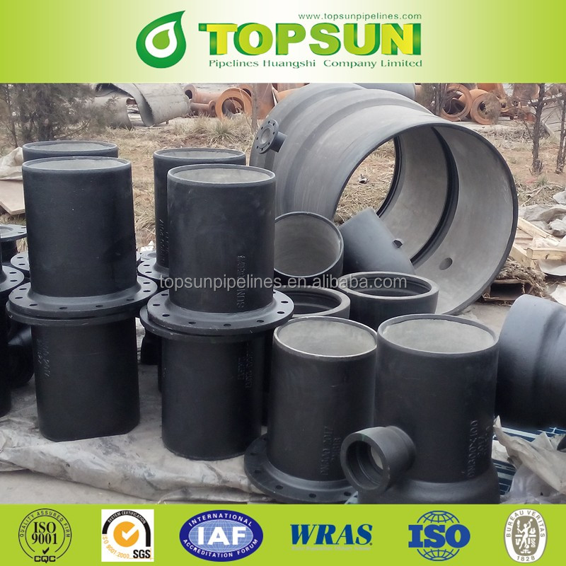 Ductile Iron Pipe Fittings- cement lined flange spigot/ductile iron pipe fitting socket spigot