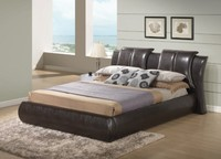 PU Leather Upholstered King Size Bed Frame