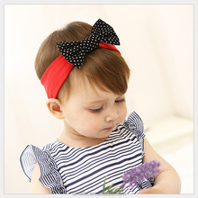 New Baby Girl Black White Spots Red Headband Factory Price HB099