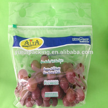 Fruit slider zip bag with air holes for grape packaging