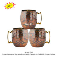 Copper Mug with Brass Handle