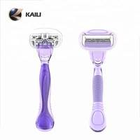 New design lady shaving razor Stainless steel blade and big easy rinse head