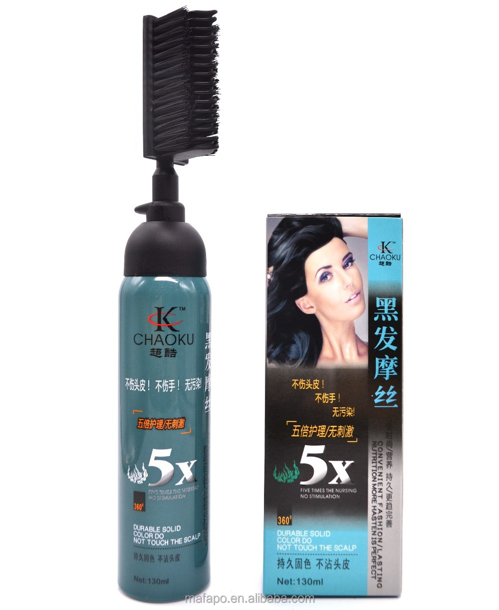 colorful the black magic combs hair dye