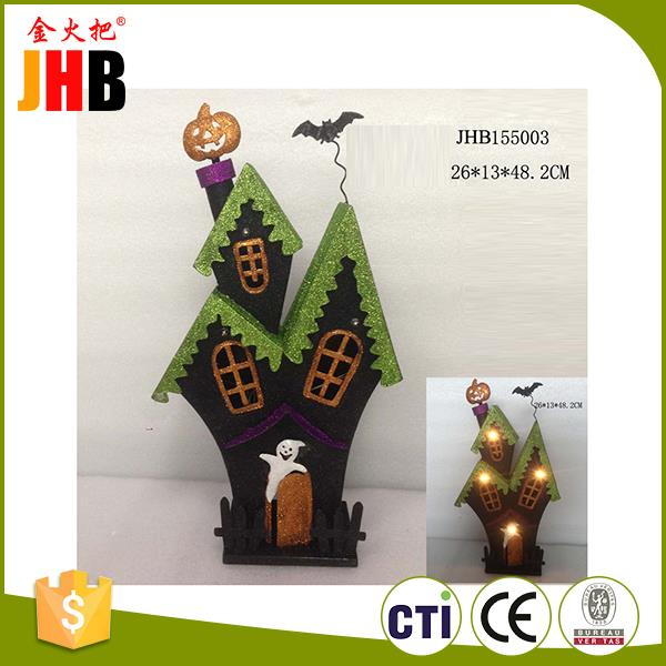 Chinese style metal house shaped lighting harvest festival decoration