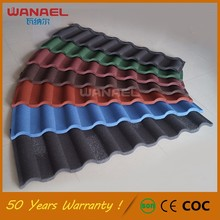 Color Stone Coated Metal Roof Tile Factory in Guangzhou
