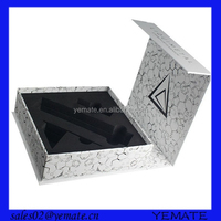 Popular magnet closure clear wine glass cardboard packaging box with EVA inside
