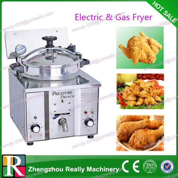 16L commercial electric pressure fryer for chicken meat for sale