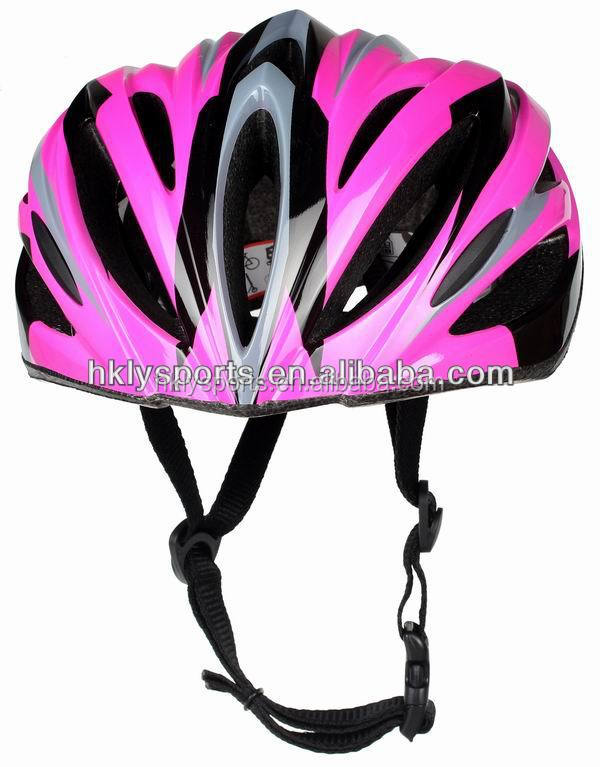 Shengtao Promotion LY-020 PVC Out Shell Pink Bike Riding Crash Helmet for Sale