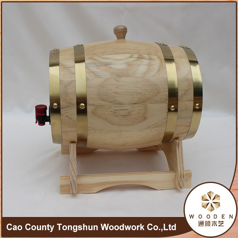 Wooden Wine Barrel Clear Beer Bucket