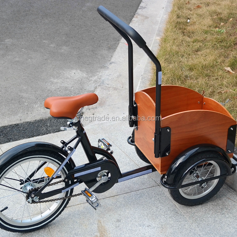 Front carrier 3 wheels child cargo bike for sale UB9035