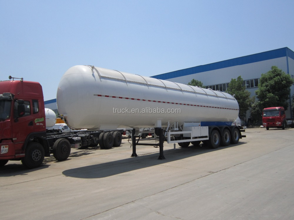 high quality tri-axles tanker semi trailer truck for liquified gas