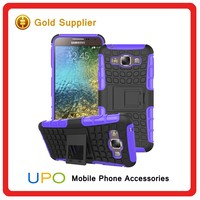 [UPO] Dual Layer Tough Rugged Kickstand Hybrid Heavy Duty Armor Shockproof Phone Case for Samsung Galaxy E5