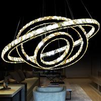 BEST Modern Big Luxury Gold Color K9 Crystal Pendant Light Chandelier for hall lighting