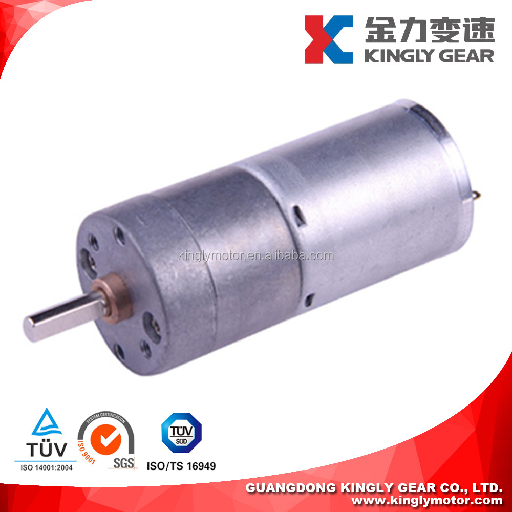 6V 12V 24V 25mm DC Spur Gear Motor 1000rpm