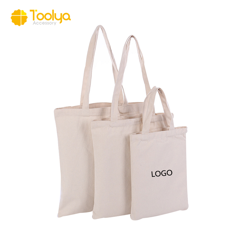 Custom blank printed cheap natural organic promotional shopping small canvas cotton tote bag