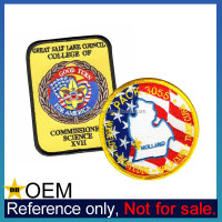 Manufacturer Bulk Promotional Iron on Boy Scout Custom Embroidered Patches