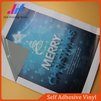 Grey Advertising Material PVC Self Adhesive Vinyl Wallpaper Wall Covering