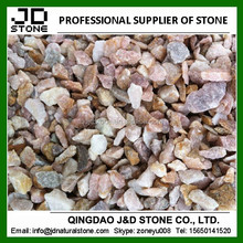 Pink granit crushed stone/ Landscaping granite chips