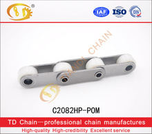 carbon steel P50.8 double pitch big nylon roller hollow pin chain C2082HP