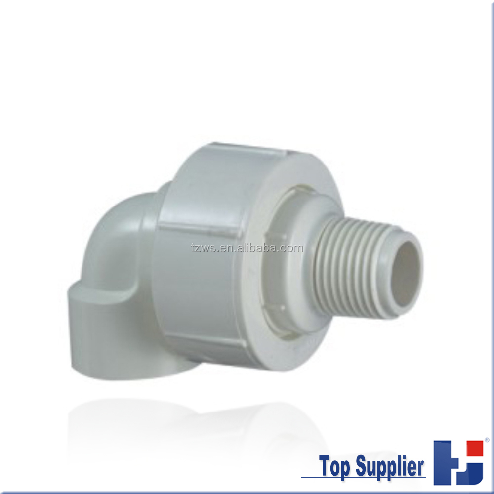BS thread water supply pvc pipe fitting male/female union elbow