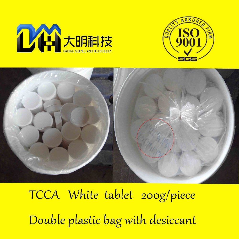 Water Treatment chemicals Swimming pool chlorine tablets /granular/ powder tcca 90