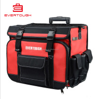QXJG-LGB-1002 1680D polyester Heavy-duty cloth multi-function rod tug rolling tool bag